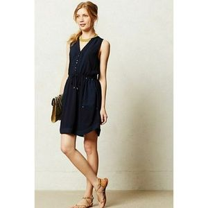 Maeve Anthropologie Sleeveless Stud Button Dress